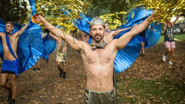 Performers rehearse their routines ahead of Mardi Gras.