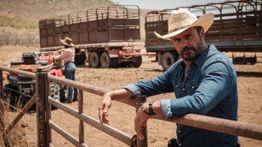 Aaron Pedersen stars as detective Jay Swan in the miniseries Mystery Road, a spin-off from Ivan Sen's 2014 movie of the same name.