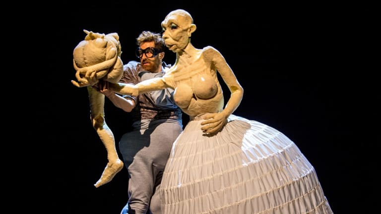Duda Paiva performs in Blind, part of Theatre Works' 2016 season.