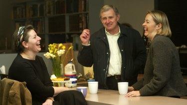 Anna Burke with former Labor MPs Nicola Roxon and Simon Crean in 2003.