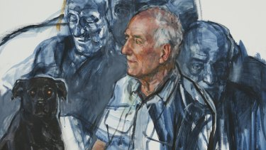 In the Black Dog, Ann Cape paints overlapping images of her husband, Bill Cape, who has frontotemporal dementia.