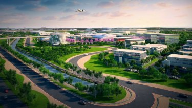 Brisbane Airport will expand into a new kind of vehicle with plans for a 50-hectare auto mall.