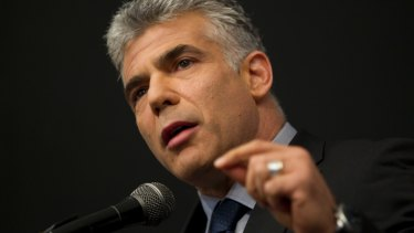 Yair Lapid, head of the centrist Israeli party Yesh Atid.