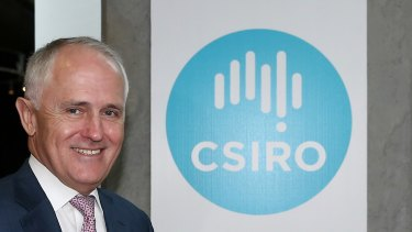 Prime Minister Malcolm Turnbull during a visit to CSIRO in December.