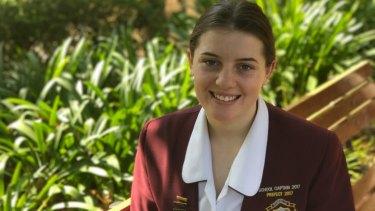 Roseville College Sydney academic scholarship recipient Ruby Shevlin.