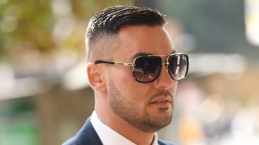 Salim Mehajer outside the Downing Centre Local Court in Sydney in August.