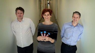 Left to right: Paul Gilson, Tania de Koning-Ward and Brendan Crabb.