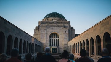 The guide suggests visiting the Cupping Room for breakfast, the Canberra Glassworks, Lerida Estate winery, the Australian War Memorial, Hotel Hotel in New Acton and Braddon.