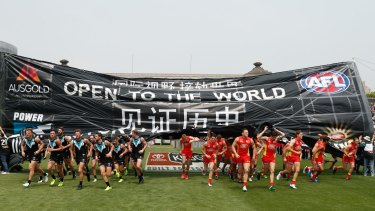 The match between the Gold Coast Suns and Port Adelaide Power at Jiangwan Sports Stadium was the first to be played outside Australia or New Zealand for competition points.