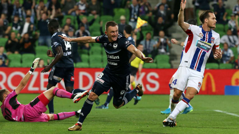 Besart Berisha scores on Friday, only to be denied by an off-side call.