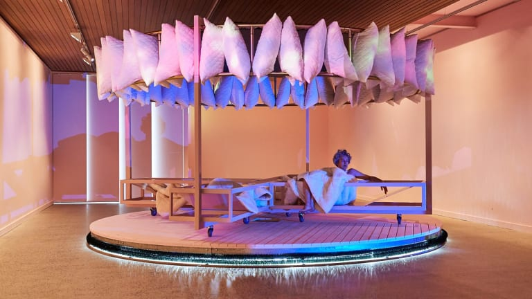 Architect Matthew Bird explores some of the latest design thinking around insomnia in his speculative installation Dormitorium.