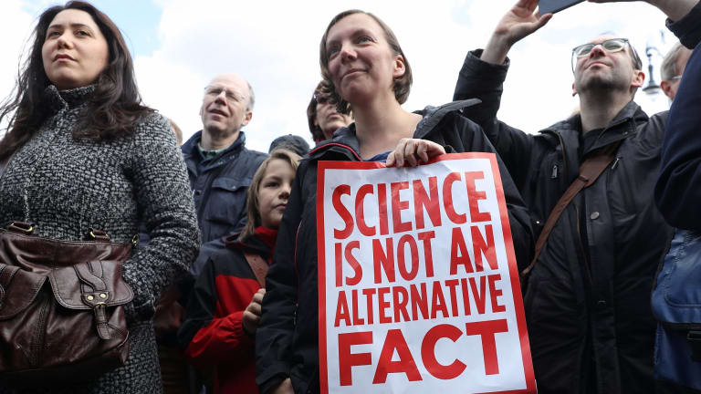 """One of April's global """"March for Science"""" demonstrations in Berlin."""