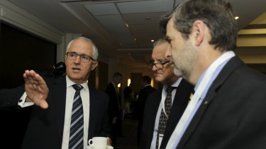 Prime Minister Malcolm Turnbull, and chief of staff Drew Clarke (right), are ultimately responsible for the damning Public Service report.