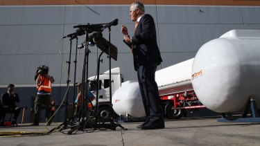 Malcolm Turnbull during a press conference in Sydney.