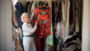 'Fashion anthropologist' Charlotte Smith with a Mary Katrantzou dress that features in her new book.