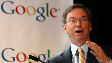 Google executive chairman Eric Schmidt.