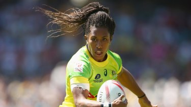 Green machine: Australian sevens star Ellia Green.