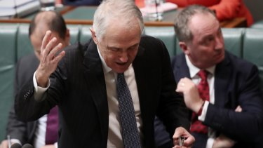 Prime Minister Malcolm Turnbull during question time at Parliament House on Tuesday.