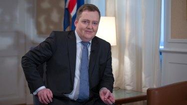 Iceland's Prime Minister Sigmundur Gunnlaugsson.