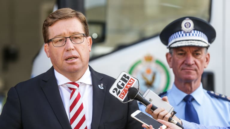 """Deputy Premier and Justice Minister Troy Grant says the changes will make it """"quicker and easier"""" for law enforcement to take action against gangs, including """"bikies""""."""