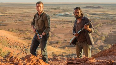 Alex Russell (left) and Aaron Pedersen in <i>Goldstone</i>.