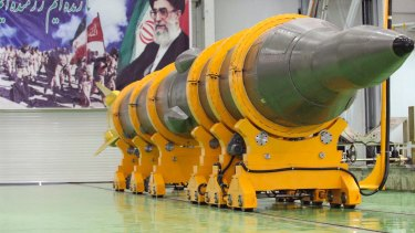 "The US says it is putting Iran ""on notice"" over missile testing."