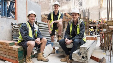 Tom Gulliford and Matt Ventrella. Both took on apprenticeships with Hutchinson Builders.