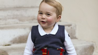 Prince George at Kensington Palace, London.