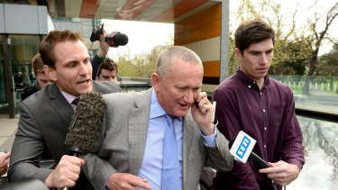Stephen Dank leaves court in September 2014 following the ASADA investigation into the Essendon supplements program.