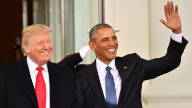 President-elect Donald Trump and US President Barack Obama prior to the inauguration.