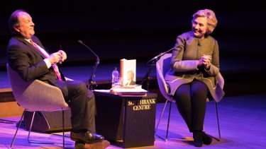 Hillary Clinton talks to James Naughtie at the London Literature Festival about her new book and women's rights.
