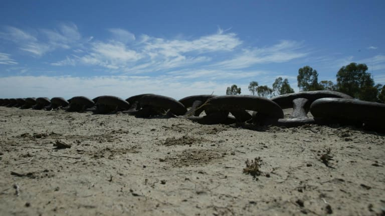 Heavy chain used for land clearing on land close to the Yanga National Park near Balranald.