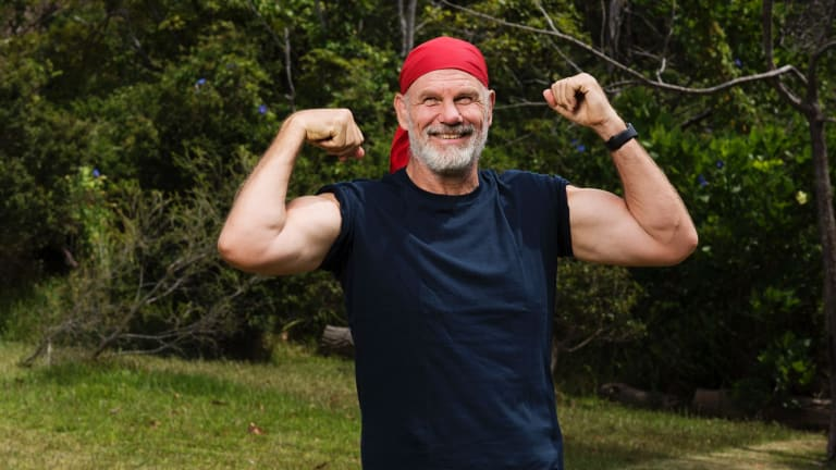 The newly fit and slim Peter FitzSimons: ''This year, instead of just talking about it, actually do it.''