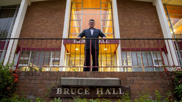 Former Bruce Hall resident Allan Connelly-Hansen wants the 55-year-old building saved.