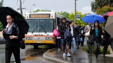 Buses will replace trains on three of Melbourne's busiest lines in early January.
