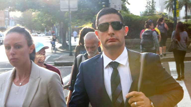 Anthony Saliba leaves the NSW Supreme Court on Monday April 18, 2016.