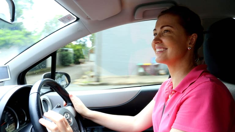 Joy Baines, of Annandale in inner-city Sydney, listed her Toyota Yaris on car-sharing platform Car Next Door for $6 an hour or $30 a day and it's in constant demand.