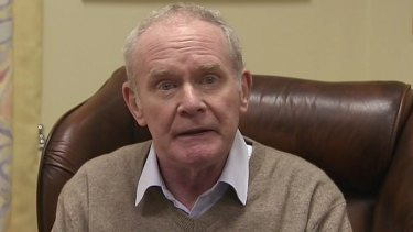 Deputy First Minister Martin McGuinness announces his resignation in a video.