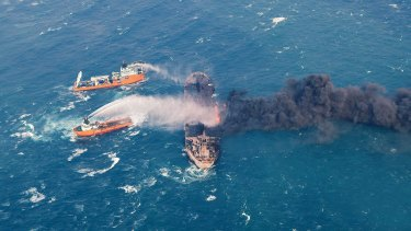 Oil tanker sinks: The ship, Sanchi, had been adrift and on fire for more than a week in the East China Sea.