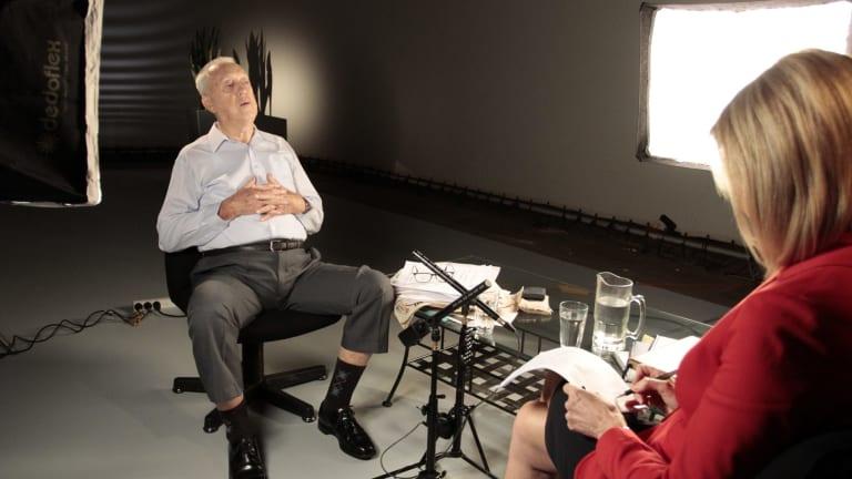 Channel Seven's Kay McGrath interviews Terry Lewis.