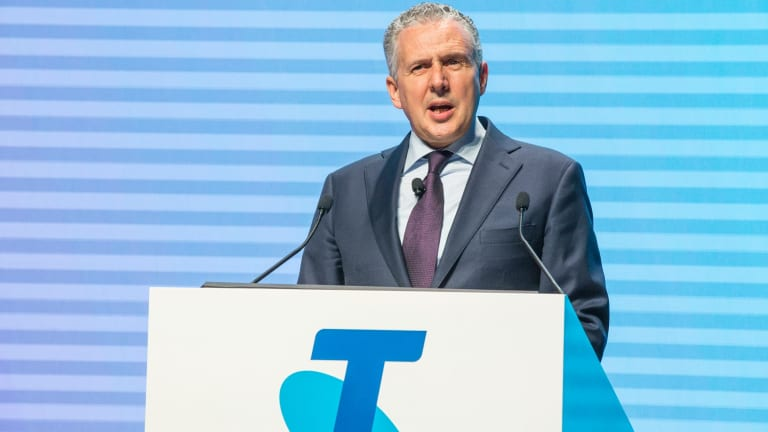 Telstra CEO Andrew Penn has posted an unexpected fall in earnings in the December half.