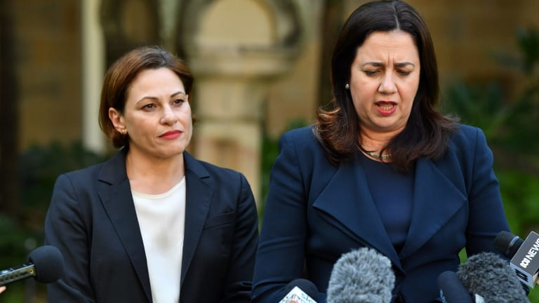 Queensland Premier Annastacia Palaszczuk (right, pictured with deputy Jackie Trad) says she won't censure Labor MP Jo-Ann Miller, who has likened her own government to that of Sir Joh Bjelke-Petersen.