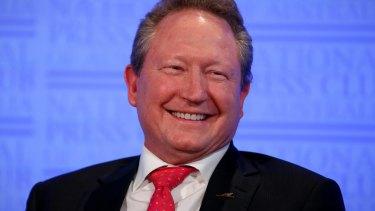 Australian philanthropist and mining magnate Andrew Forrest.