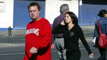 Carl and  Roberta Williams at the scene of a gangland murder in 2004.