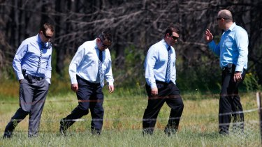 NSW Police search the Murraguldrie State Forest for the Stoccos this week.