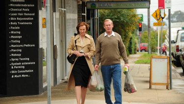 """Well played: Richard Roxburgh and Toni Collette as  Roger """"the Dodger"""" Rogerson  and his wife Anne."""