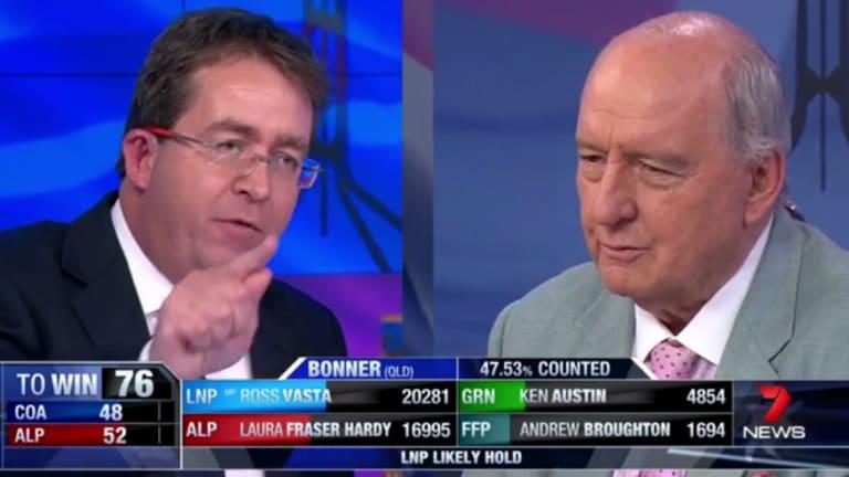 "Shock jock Alan Jones described Senator James McGrath as the ""captain of bedwetters"" on Saturday night."
