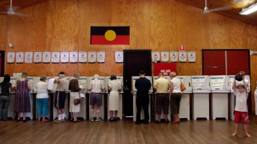 The cardboard voting stall is an Australian invention.