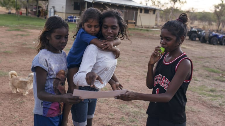 Young people of the Molly Springs community, Wijilawarrim, in the Kimberley Region of Western Australia.