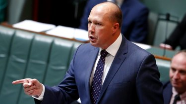 Immigration Minister Peter Dutton has repeatedly defended the visa changes.